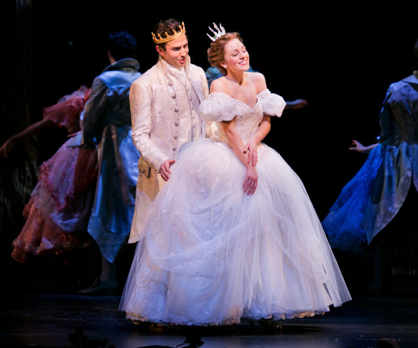 Cinderella Transformation Dress on Laura Osnes