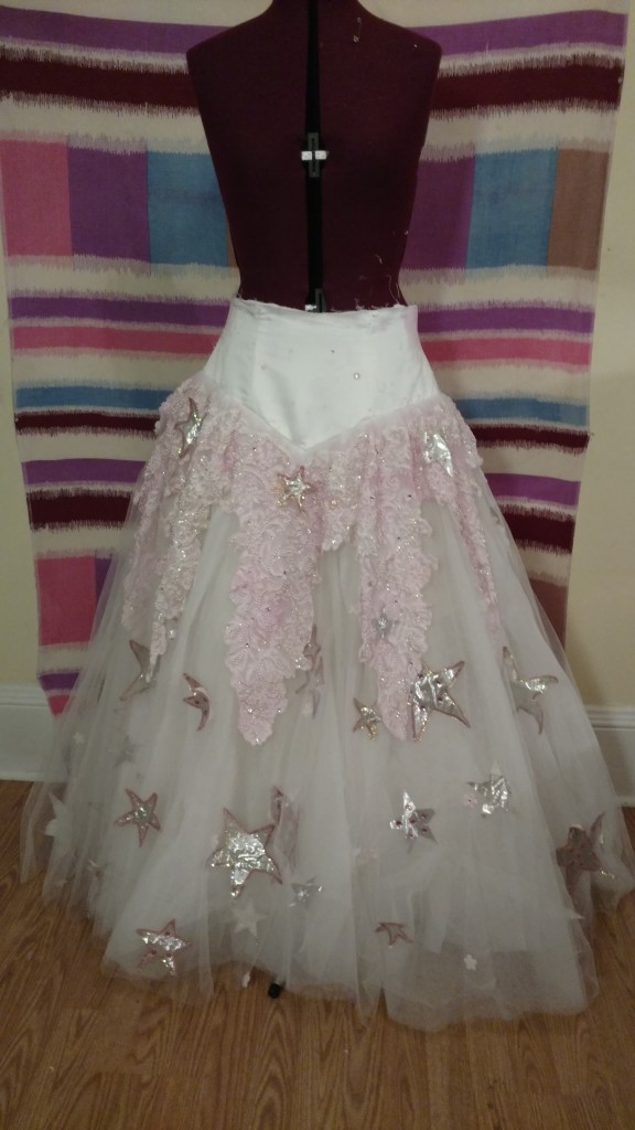 Glinda Skirt becomes part of the Cinderella Dress