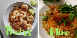 BA Basics Meal Plan Monday night meal of spicy past and shrimp