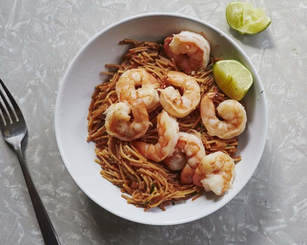 Ba Basics Meal Plan Spicy Pasta with Shrimp