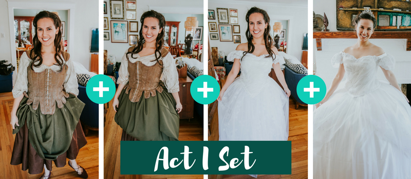 how to make a cinderella transformation dress